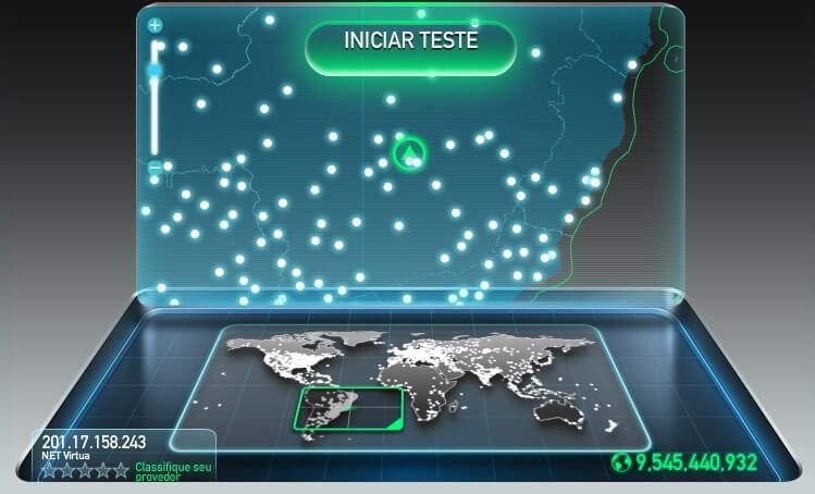 Speedtest - Teste de velocidade da Internet